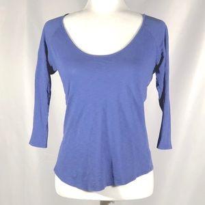 3/4 Length Periwinkle Purple/Blue Lightweight Top